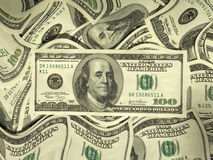 MONEY(SEE MORE IN MY PORTFOLIO). Money background from one hundred dollar banknotes Royalty Free Stock Photography