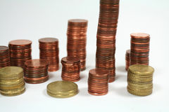 Money series. Coins architecture Stock Photography