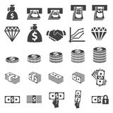 Money set icon Stock Images