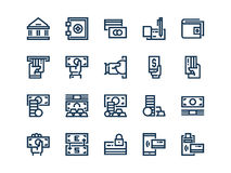 Money. Set of outline vector icons. Money. Set of outline vector icons on a white background Stock Photography