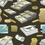 Money set pattern. On color background. Vector illustration, EPS 10 Royalty Free Stock Photos