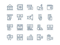 Money. Set of thin outline vector icons. Money. Set of thin outline vector icons on a white background Royalty Free Stock Image