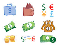 Money set Royalty Free Stock Photos