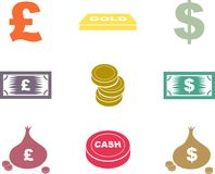 Money shapes Royalty Free Stock Images