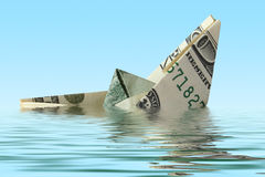 Money ship in water Stock Images