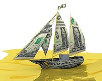 Money Ship. Your money ship has arrived! An illustration related to new found wealth Royalty Free Stock Photo