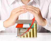 Money shop from coins Stock Images