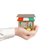 Money shop from coins Stock Photography