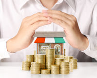 Money shop from coins Stock Photo