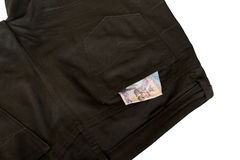 Money in Short pants Royalty Free Stock Photo