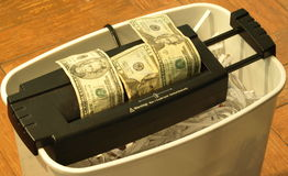 Money shred 17. Photo of a money being shredded Stock Images