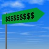 Money sign. Road to money Stock Illustration