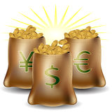 Money Sign Bags Royalty Free Stock Image