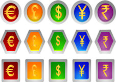 Money sign icons Royalty Free Stock Images