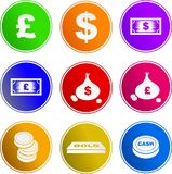 Money sign icons Royalty Free Stock Photo