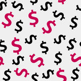 Money sign seamless pattern background vector. Illustration. This is file of EPS10 format Stock Images
