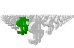 Money Signs Royalty Free Stock Photos
