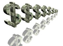 Money signs of dollar Stock Photography