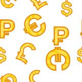 Money signs pattern, cartoon style. Money signs pattern. Cartoon illustration of money signs vector pattern for web Royalty Free Stock Photo