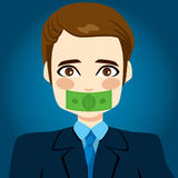 Money Silenced Businessman Royalty Free Stock Photography