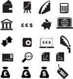 Money silhouette set Royalty Free Stock Photo