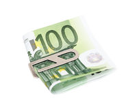 Money with silver clip Royalty Free Stock Image
