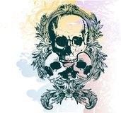 Money skull illustration Stock Image