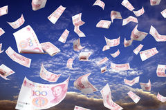Money and sky Stock Photo