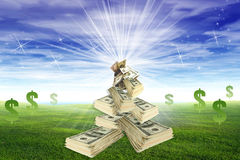 Money sky Stock Photography