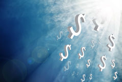 Money from the sky. Business concept Royalty Free Stock Photo