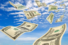 Money in the sky. Royalty Free Stock Photos