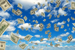Money in the sky. Stock Photos