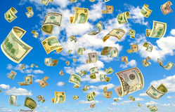 Money in the sky. Royalty Free Stock Photo
