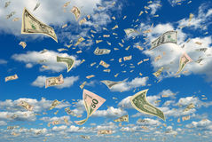 Money in the sky. Stock Images