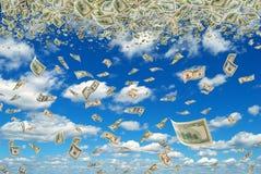 Money in the sky. Stock Image