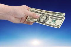 Money from sky Stock Image