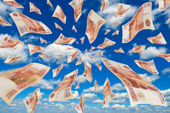 Money in the sky. Royalty Free Stock Photography