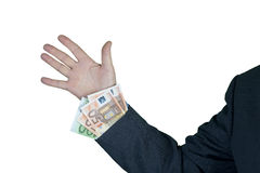 Money in the sleeve Royalty Free Stock Image