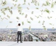 Money snowfall Royalty Free Stock Photo