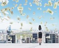 Money snowfall Stock Photos