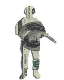 Money soldier currency dollars Stock Photography