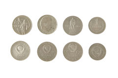 Money soviet coins roubles lenin isolated. Heritage metal Stock Photo