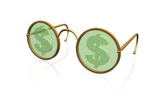 Money spectacles Royalty Free Stock Photo
