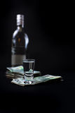 Money we spent on alcohol Royalty Free Stock Images