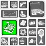Money squared icons Stock Photos