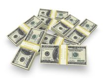 Money Stack. Concept in 3D Royalty Free Stock Photography