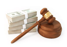 Money stack with Auction Stock Image