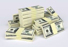 Money stack. Big money stack from dollars usa. Finance concepts Royalty Free Stock Photos