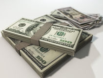 Money stack of dollars. 3d illustration Royalty Free Stock Photography