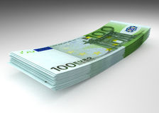 Money - stack of euro banknotes. Money concept - stack of hundred euro banknotes Stock Photo